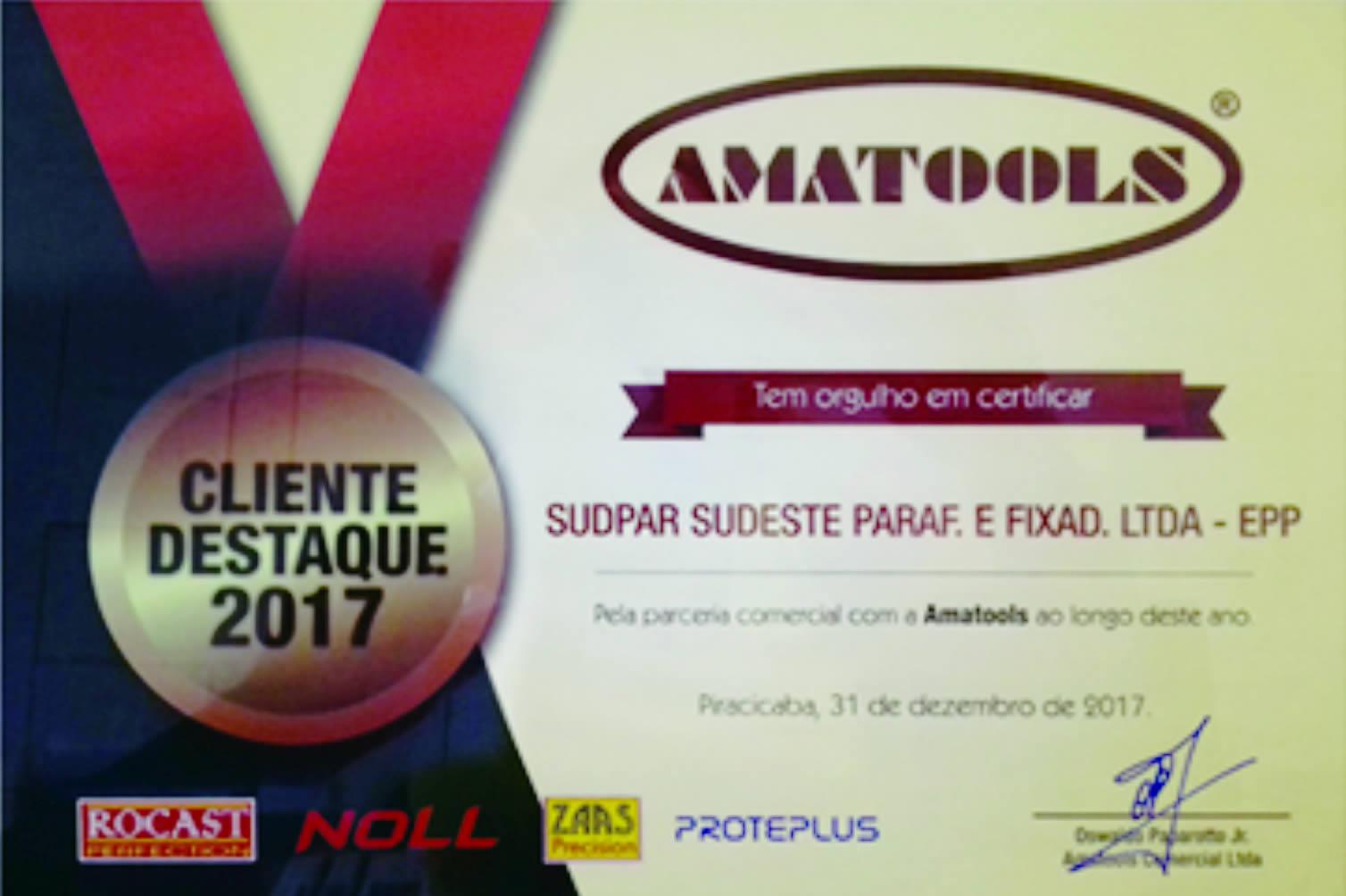 Certificado Reconhecimento Amatools